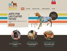 Web Oh My Goat! 40 Artistas muestras su versión de la cabra con más arte: la cabra malagueña.