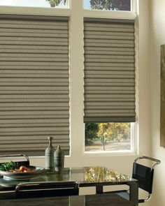 The newest window covering from Hunter Douglas, Solera ™ Soft Shades, is available in both light filtering and room darkening. Contemporary Window Treatments, Contemporary Windows, Custom Window Treatments, Contemporary Decor, Hunter Douglas Blinds, Dining Room Windows, Dining Rooms, Woven Wood Shades, Contemporary Kitchen Cabinets