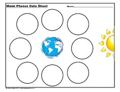 Printables Moon Phases Worksheet coloring solar system and sun on pinterest phases of the moon cookie activity