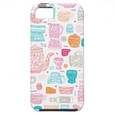 Cute cooking design kitchen tea art pattern iPhone 5 case