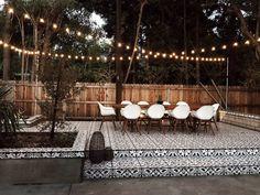Backyard Patio Designs, Backyard Landscaping, Patio Ideas, Backyard Ideas, Landscaping Ideas, Design Jardin, Backyard Lighting, Backyard String Lights, Outdoor Kitchen Design