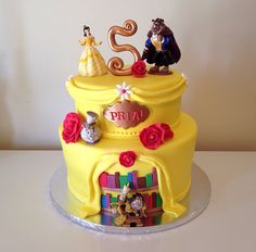 Beauty and the Beast cake by Kristy Dax | cakesbykristy.com