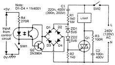 Triac Isolated-input AC power switch, AC triggered.