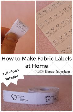 How to Make Fabric Labels Video Tutorial - Easy Sewing For Beginners