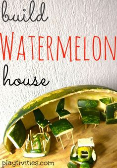 A very different watermelon craft for kids.