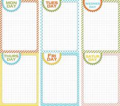 Printable week planner
