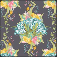 1 Yard LILLY BELLE  Lilly Bouquet  Fabric by by BellatiqueFabrics, $9.00