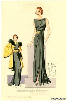 Модные журналы 30 х годов – часть первая / журнал мод модный