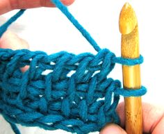 Tunisian Crochet Stitches - step-by-step photo tutorial