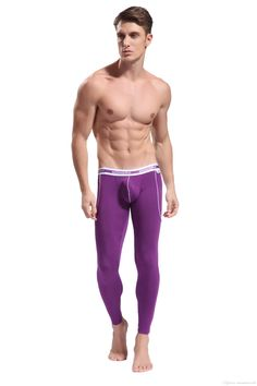 Winter Men's Thermal Bamboo Underwear Panties Sexy Smooth Long ...