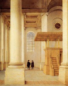 17th century Dutch church painted by Saenredam (1597 - 1665)
