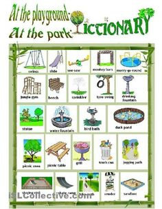 needs analysis problem 2 modify-  EwR.Poster #English Vocabulary - All About Playgrounds & Parks