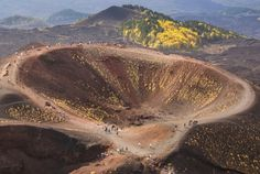 Climbing Mount Etna