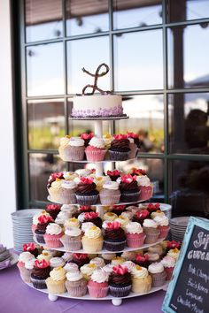 cupcake wedding cake! c. Jessamyn Harris