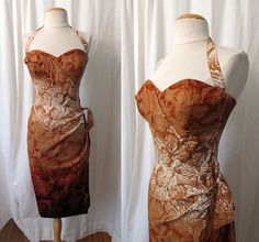 Sexy 1950's Cotton Hawaiian Sarong Dress by by wearitagain on Etsy, $298.00