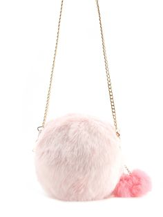 7d32903b4 Faux Fur Overlay Crossbody Bag With Pom PomFor Women-romwe Crossbody  Shoulder Bag, White