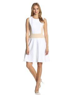 Julian Taylor Women's Sleeveless Side Panel Fit and Flare Dress, White/Nude, 16 Julian Taylor,http://www.amazon.com/dp/B00GRLVSGG/ref=cm_sw_r_pi_dp_Q16Etb18CPR9WWCJ