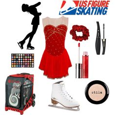 skating competition by hanna-apperson, via Polyvore