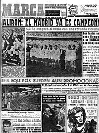 Di Stéfano gana su primera liga con el Madrid. MARCA en 'la máquina del tiempo', gran iniciativa
