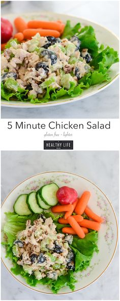 5 Minute Chicken Salad ready in 5 minutes, gluten-free, delicious, light and packed with protein. #ad - A Healthy Life For Me