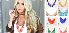 Adorned and Droplet Statement Necklace | Very Jane. This site has great necklaces and other cute things for great deals! Every couple wks they will have the jcrew bubble necklaces and anthropology necklaces as well!!!!