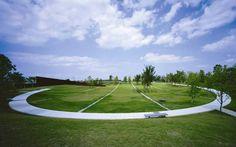 Kaze-no-Oka Crematorium. Fumihiko Maki, Oita, Cemetery, Golf Courses, Japan, Architecture, Miami, Arquitetura, Architecture Design