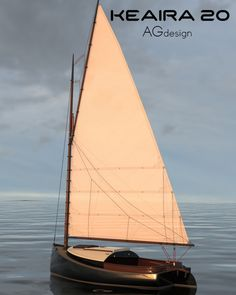Mix of modern and classical design for a cute little 20 ft catboat. Model Sailboats, Small Sailboats, Yacht Design, Boat Design, Design Net, Classic Sailing, Wooden Boat Building, Build Your Own Boat, Duck Boat