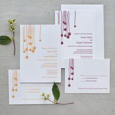 Sesame Letterpress by Lotta Jansdotter wedding...
