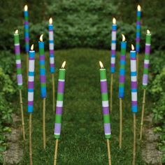 Citronella Candle Sticks.  Regular Tiki torches may be summer lawn staples for illuminating your lawn and patio into the wee evening hours, but these cool new Citronella Candle Sticks also keep those utterly irritating mosquitoes away as well.