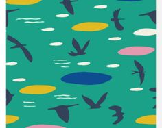 HAIKU by Monaluna Poem Organic Fabric 0.25m by thenaturalloom