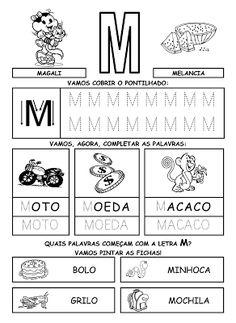 Alfabetizando com Mônica e Turma: Alfabeto - atividades