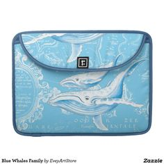 Blue Whales Family Sleeve For MacBook Pro