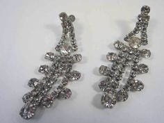 Rhinestone Shoulder Duster Earrings Statement by AMagnificentMess, $45.00