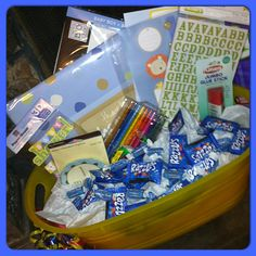 Shower gift idea, everything for babies first scrapbook:)