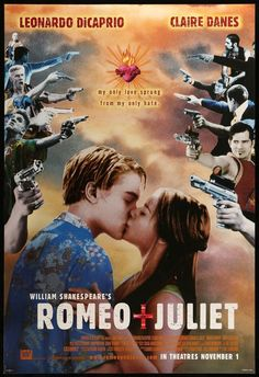 Romeo and Juliet Romeo And Juliet Poster, Juliet Movie, Romeo And Juliet Leonardo, 90s Movies, Iconic Movies, Good Movies, Comedy Movies, Cinema Movies, Romance Movies