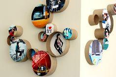 Fotowand kreativ gestalten Flur Küche