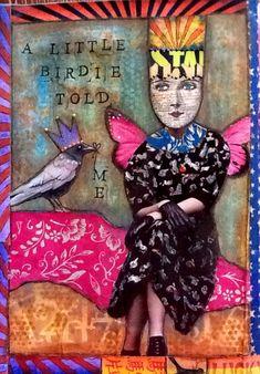 Gallery - Desert Dream Studios - The Artwork of Mary Jane Chadbourne Mixed Media Journal, Mixed Media Art, Moleskine, Art Journal Pages, Art Journals, Altered Book Art, Artist Trading Cards, Art Journal Inspiration, Heart Art