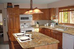 santa cecilia granite santa cecilia and oak cabinets on pinterest