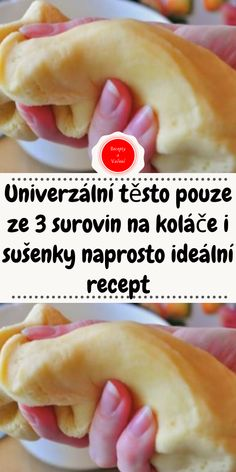 Czech Recipes, Hot Dog Buns, Yummy Treats, Food And Drink, Tasty, Sweets, Bread, Fondant, Baking