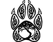 Items similar to Celtic Tree of Life Wolf Paw on Etsy