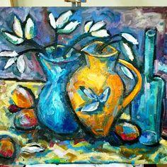 Artist Sonja Nel @ Laubar Art. ..US 400 phone  + 27 763108800  #art #artist #painting #gallery #southafrican #capetown