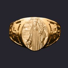 Anel Santa Patrícia em ouro 18K. Clique e veja mais detalhes!