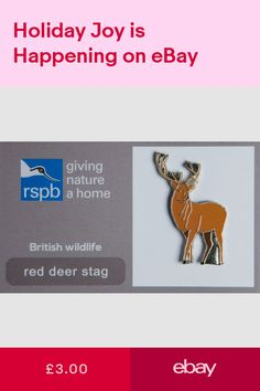 Club & Association Badges Collectables #ebay British Wildlife, Red Deer, Pin Badges, Club, Jewellery, Ebay, Jewels, Jewelry Shop, Jewerly