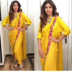 @theshilpashetty for Superdancer auditions Outfit - @silverhouse.co.in Jewelry - @minerali_store Juttis - @fizzygoblet Styled by @sanjanabatra Assisted by @akanksha_kapur ## #instylediaries #instastyle #fashion #fashionista #fashionblogger #cele