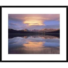 Global Gallery Lenticular Clouds over Mount Dana, Mount Gibbs, and Mammoth Peak at Tuolumne Meadows, Yosemite National Park, California by Tim Fitz...