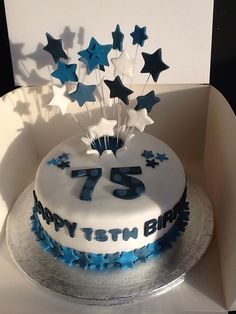 75 Birthday Cake 75th Parties Cookies Celebrations Happy