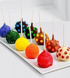 Belgian Chocolate Dipped Rainbow Cake Pops Rainbow Cake Pops, Tuna Cakes, Birthday Gift Baskets, Belgian Chocolate, Cake Cover, Baking Tins, Chocolate Dipped, Savoury Cake, Clean Eating Snacks