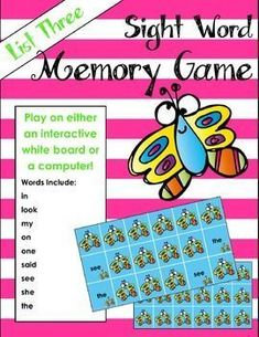 Sight word game that kids will love! Play on the computer or interactive white board. Perfect way to integrate technology into learning. #computergames