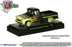 Limited Edition Gold Chase Piece 1959 CHEVROLET APACHE FLEETLINE * Wild Cards Series Release 11 * M2 Machines 2015 Castline Premium Edition 1:64 Scale Die-Cast Vehicle ( 1 of only 500 pieces )