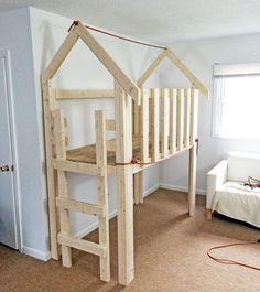 Over Bed Indoor Playhouse (loft) Diy Kids Furniture, Home Furniture, Cheap Furniture, Furniture Stores, Painting Kids Furniture, Furniture Buyers, Furniture Dolly, Discount Furniture, Antique Furniture